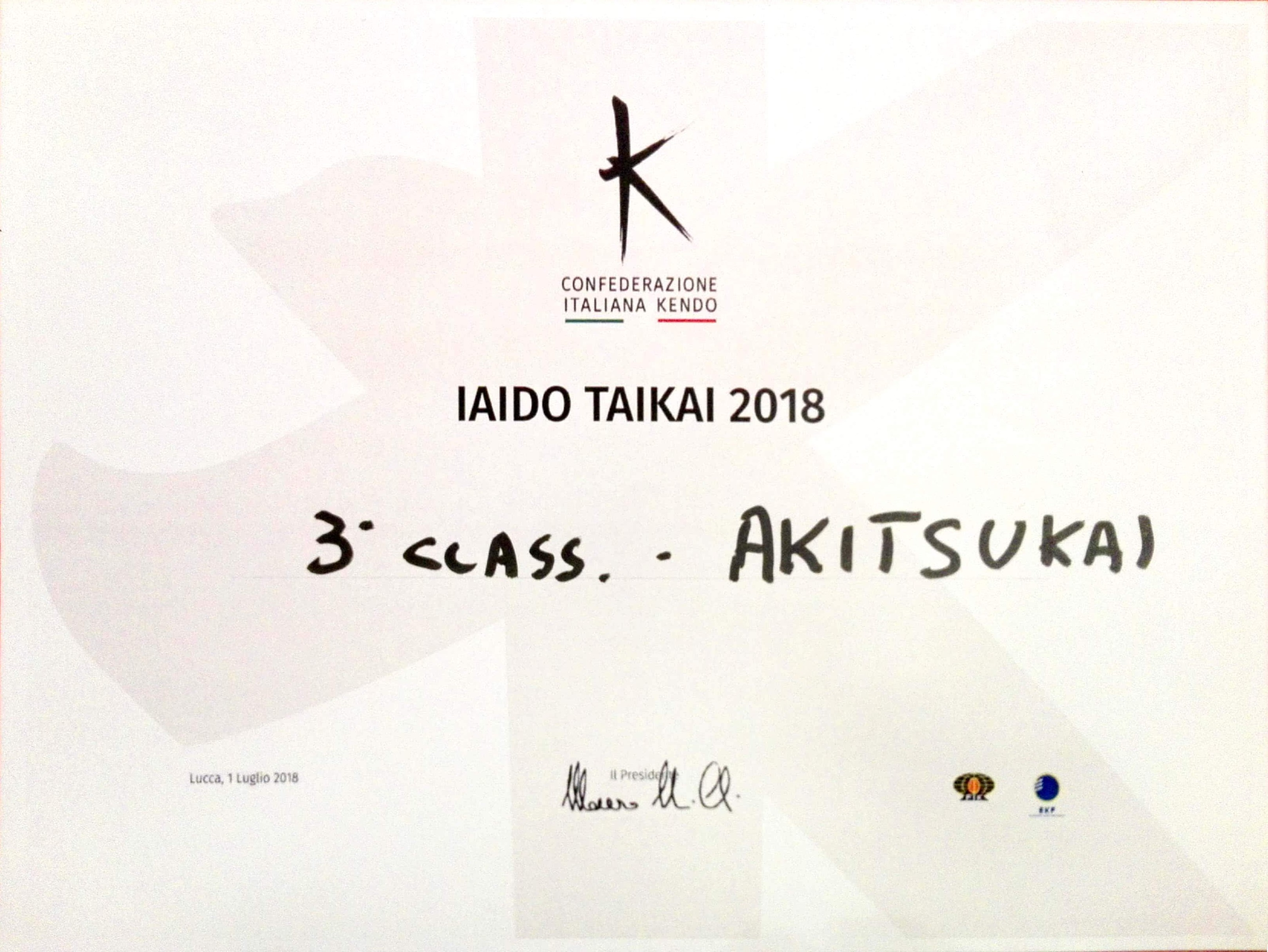 akitsukai 3rd classificata